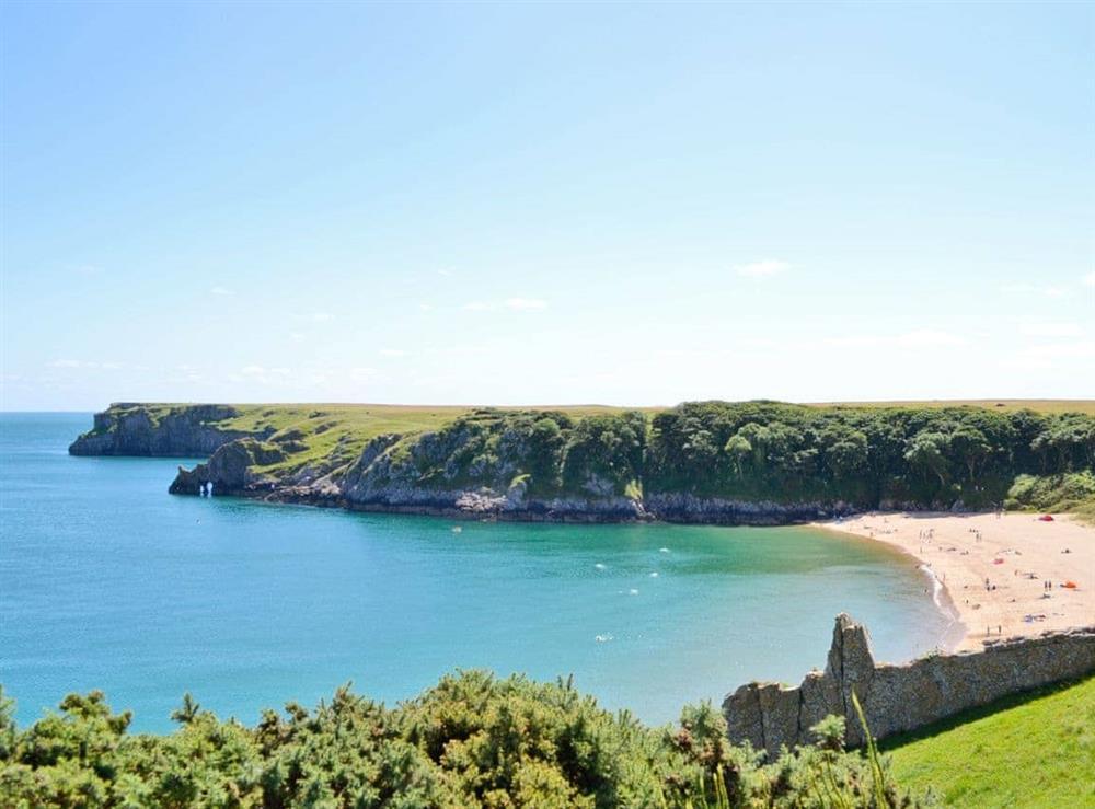 Stunning coastal views of Barafundle Bay at Llwynbedw in St Dogmaels, near Cardigan, Dyfed