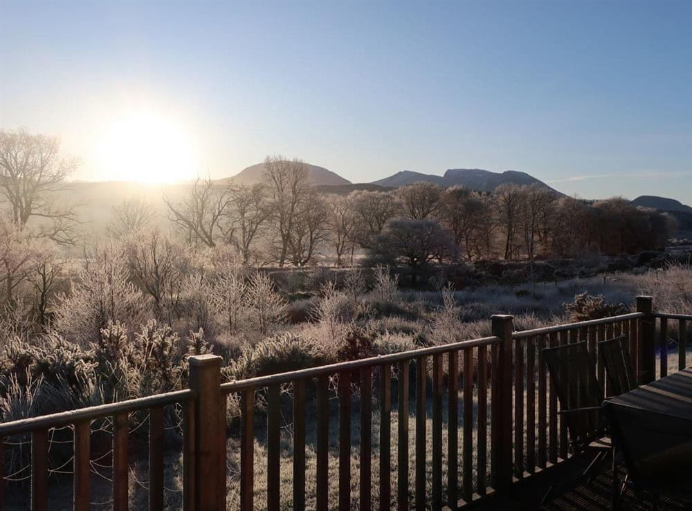 A typical frosty winter morning view from your terrace