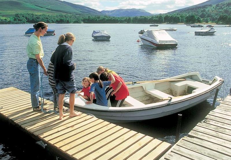 Loch Earn at Lochearnhead Loch Side in Perthshire, Scotland
