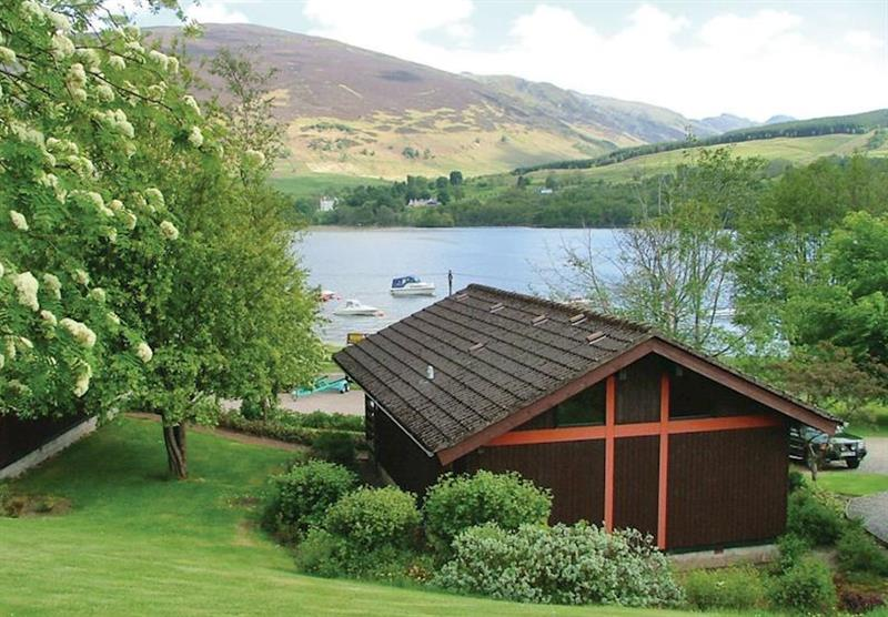 The park setting overlooking Loch Earn at Lochearnhead Loch Side in Perthshire, Scotland