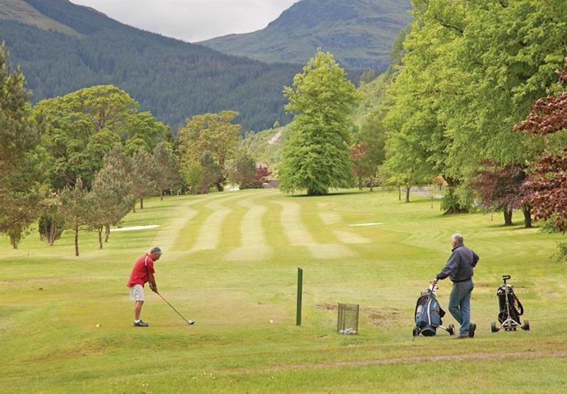 Golf course at Lochgoilhead Lodges in Lochgoilhead, Perthshire & Southern Highlands