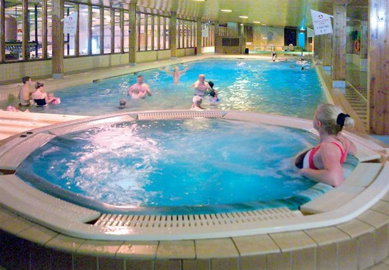 Indoor heated swimming pool and jacuzzi at Lochgoilhead Lodges in Lochgoilhead, Perthshire & Southern Highlands