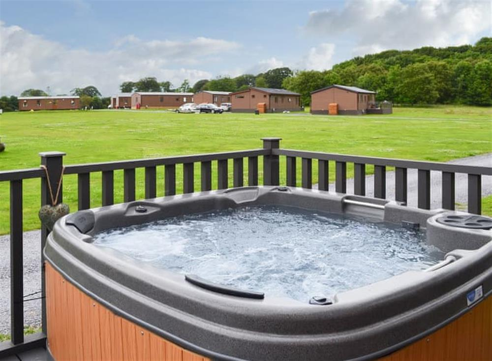 Hot tub at Lodge 5 in Sewerby, near Bridlington, North Humberside