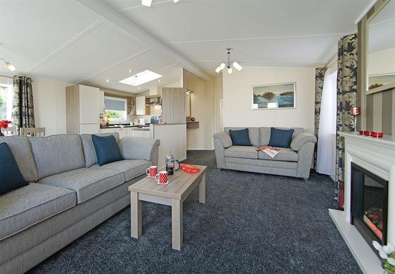 Inside the Kingfisher Lodge at Longmead Country Escapes in Cheddar, Nr Wells