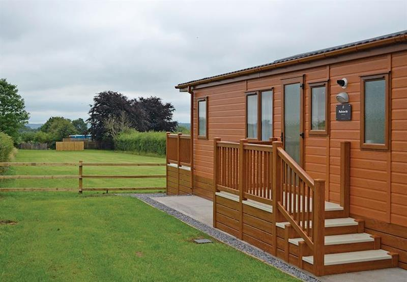 Setting of the Kingfisher Lodge at Longmead Country Escapes in Cheddar, Nr Wells