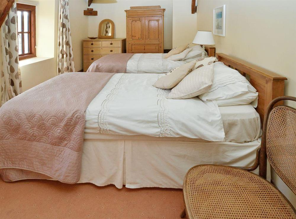 Twin bedroom at Lovage Cottage in Kingswear, Nr Dartmouth, South Devon., Great Britain
