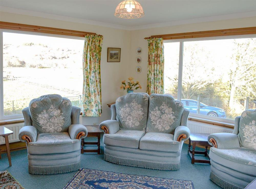 Comfortable living room at Lower Brae in Strath Oykel, by Ardgay, Highlands, Ross-Shire