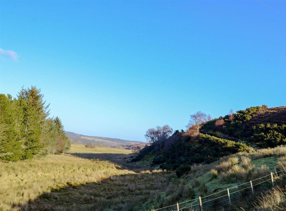 Surrounding countryside at Lower Brae in Strath Oykel, by Ardgay, Highlands, Ross-Shire