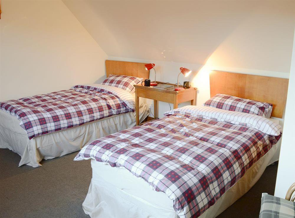 Twin bedroom at Lower Brae in Strath Oykel, by Ardgay, Highlands, Ross-Shire