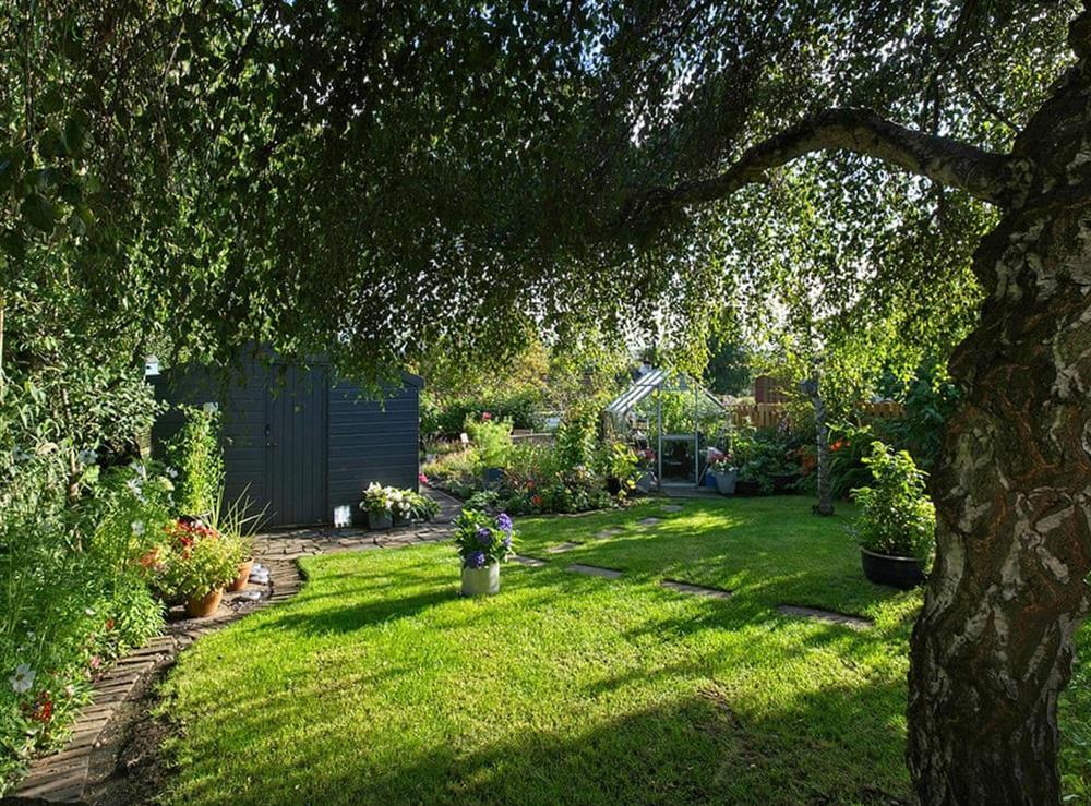 Garden at Lower Canterbury House in Gattonside near Melrose, Roxburghshire