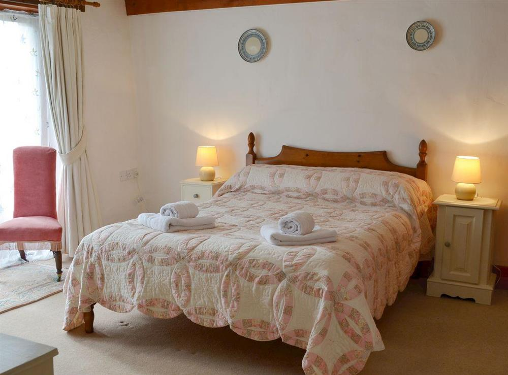 Comfortable double bedroom at The Byre,
