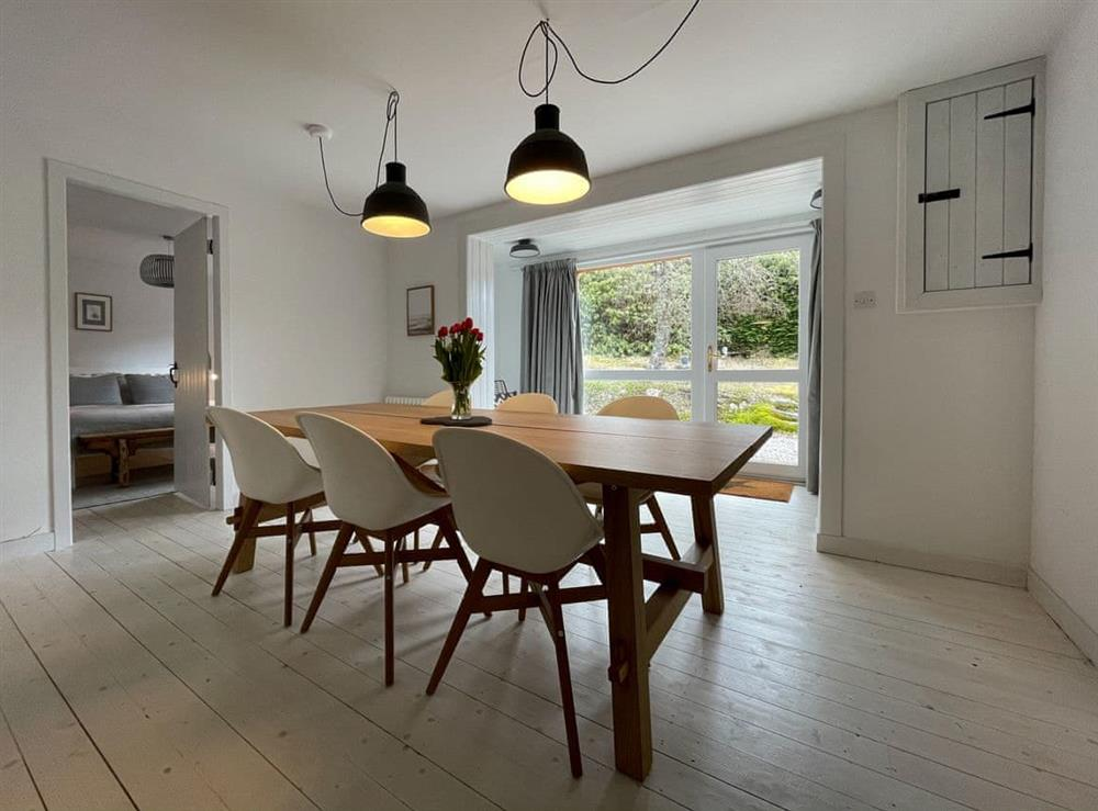 Dining room at Lower Hilton Cottage in Culrain, Lairg, Ross-Shire