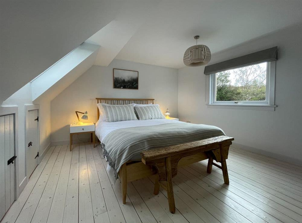 Double bedroom at Lower Hilton Cottage in Culrain, Lairg, Ross-Shire