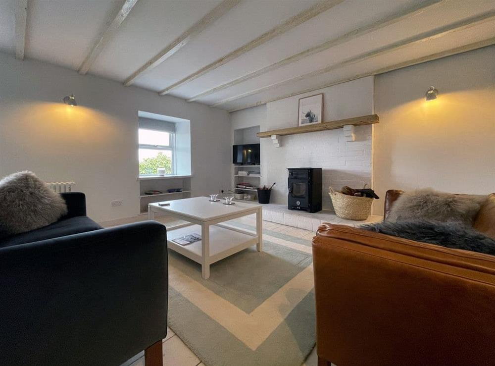 Living room at Lower Hilton Cottage in Culrain, Lairg, Ross-Shire