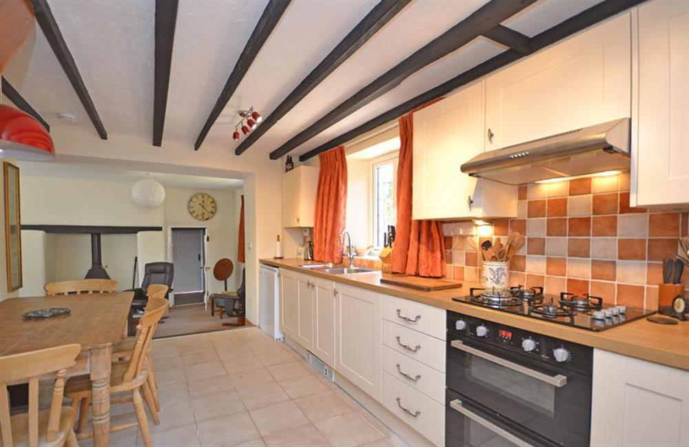 The kitchen looking towards the living room at Lydiard Cottage, Loddiswell