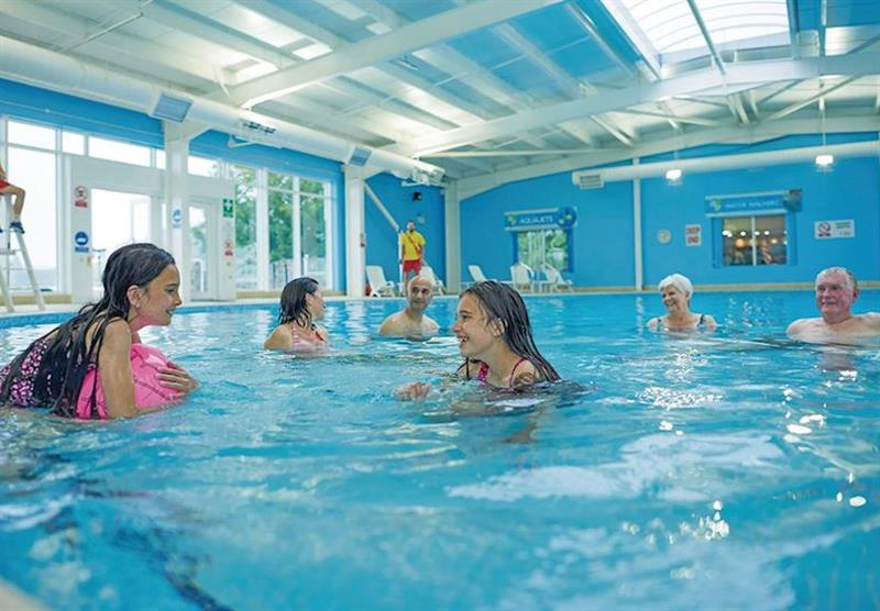 Indoor heated pool at Lydstep Beach in Pembrokeshire, South Wales
