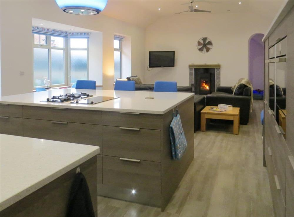 Contemporary open-plan living space at Lynnfield Hall in Hunstanton, Norfolk