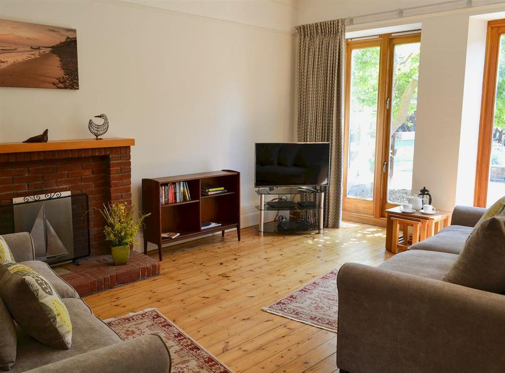Roomy living and dining area at Magnolia Lodge in Sheringham, Norfolk, England