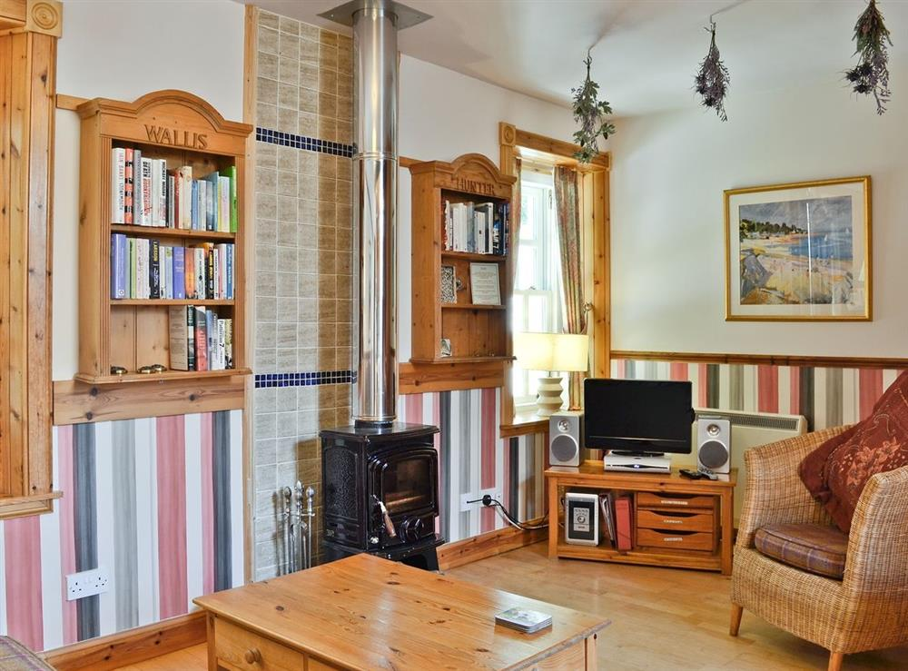 Living room at Douglas Cottage,