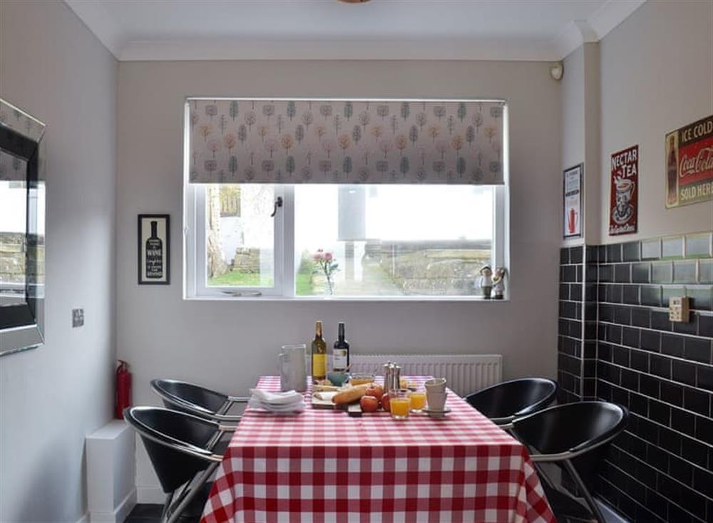 Breakfast area at Mainslea in Dunure, near Ayr, Ayrshire