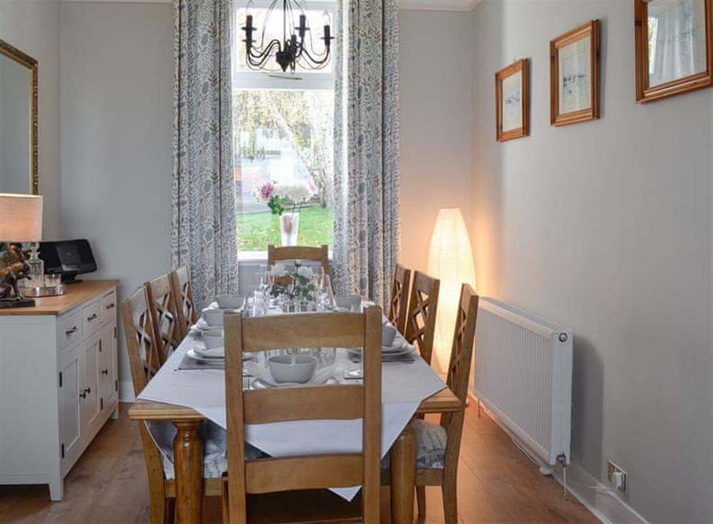Dining room at Mainslea in Dunure, near Ayr, Ayrshire
