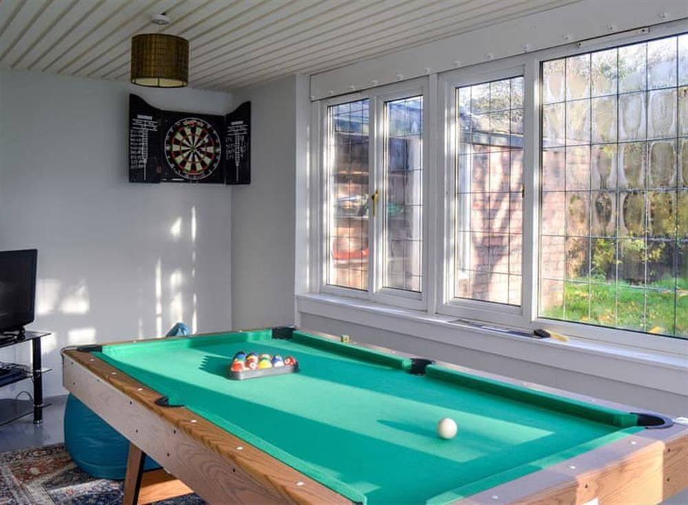 Games room at Mainslea in Dunure, near Ayr, Ayrshire