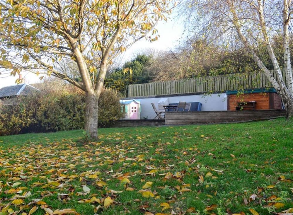 Garden at Mainslea in Dunure, near Ayr, Ayrshire