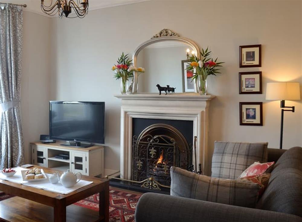 Living room at Mainslea in Dunure, near Ayr, Ayrshire