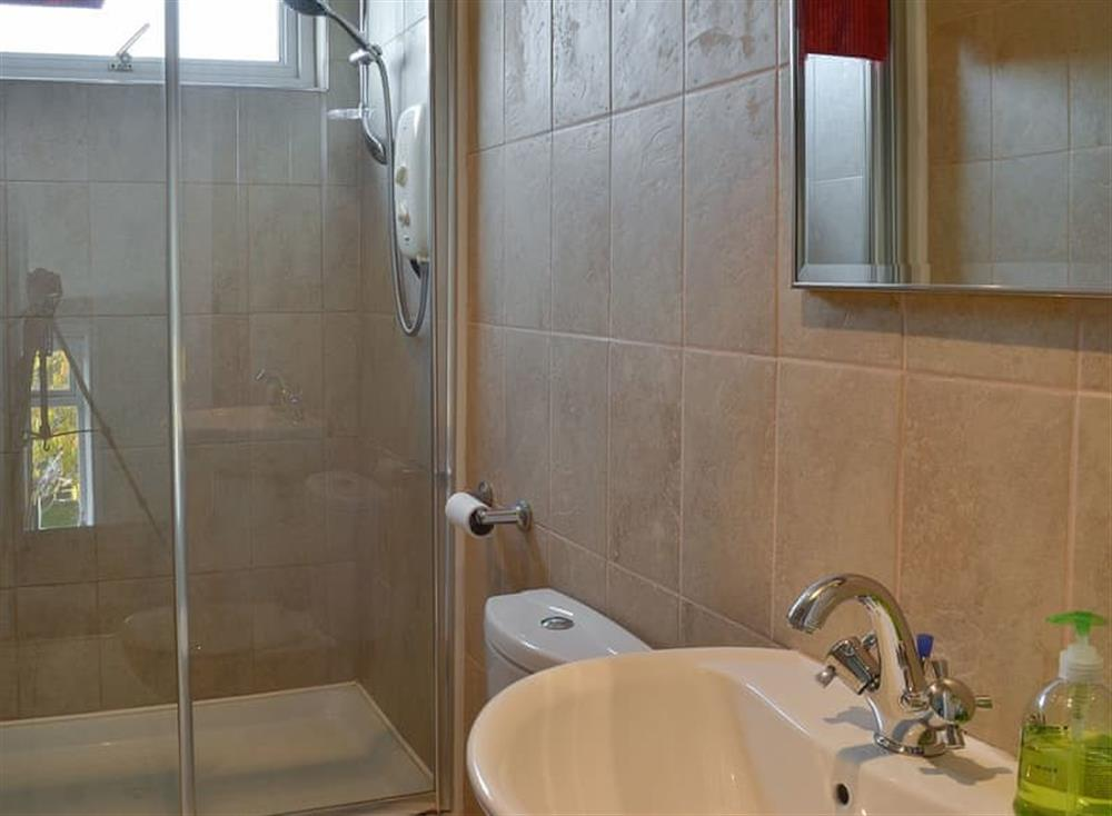 Shower room at Mainslea in Dunure, near Ayr, Ayrshire