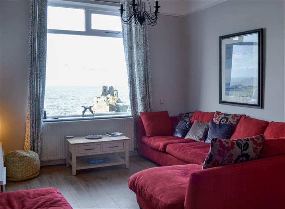 Sitting room at Mainslea in Dunure, near Ayr, Ayrshire