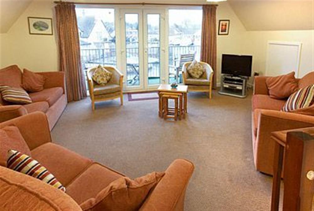 Living room at Mallard in Wroxham, Norfolk., Great Britain