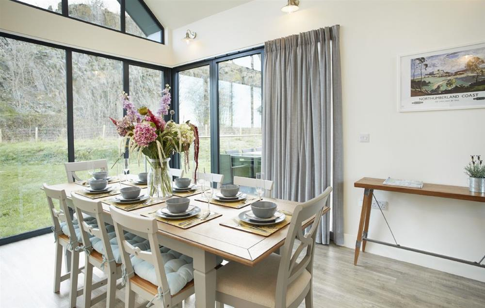 Ground floor: Elegant dining table seating eight guests