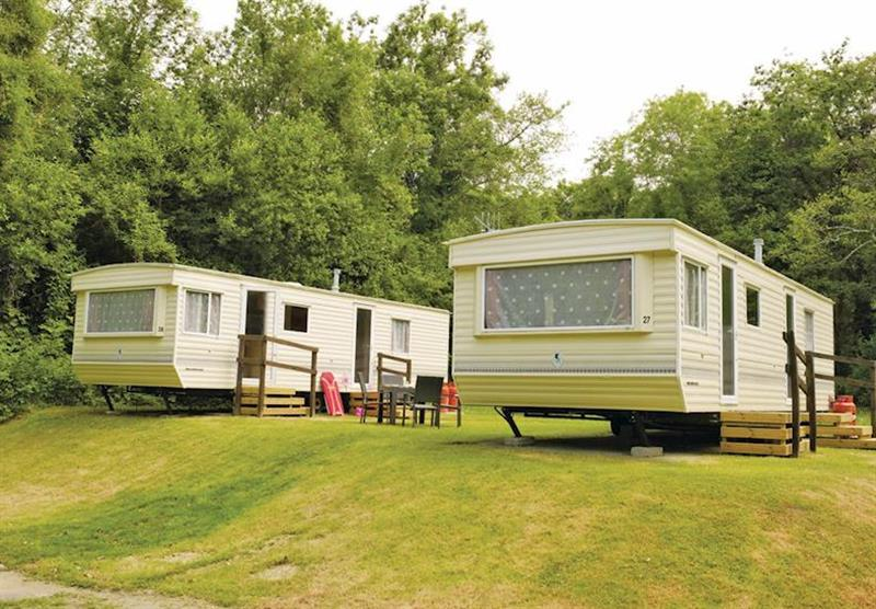 Caravan setting at Manleigh Park in Combe Martin, Devon