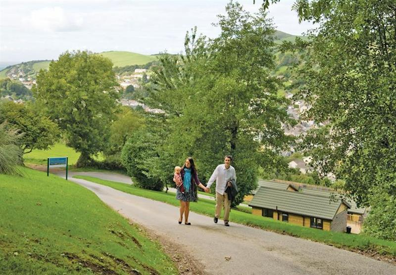 The park setting at Manleigh Park in Combe Martin, Devon