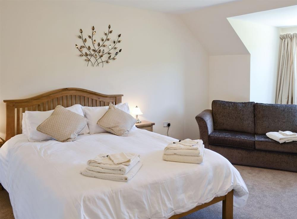 Double bedroom at March Cottage in Glen Cassley, near Lairg, Sutherland