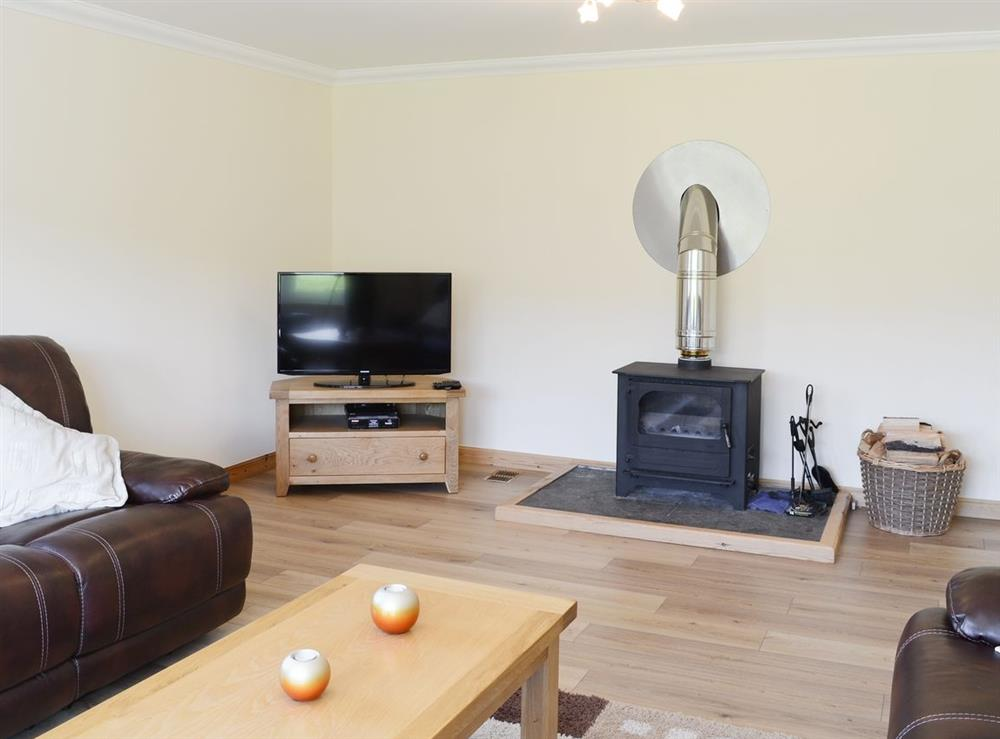 Living room at March Cottage in Glen Cassley, near Lairg, Sutherland