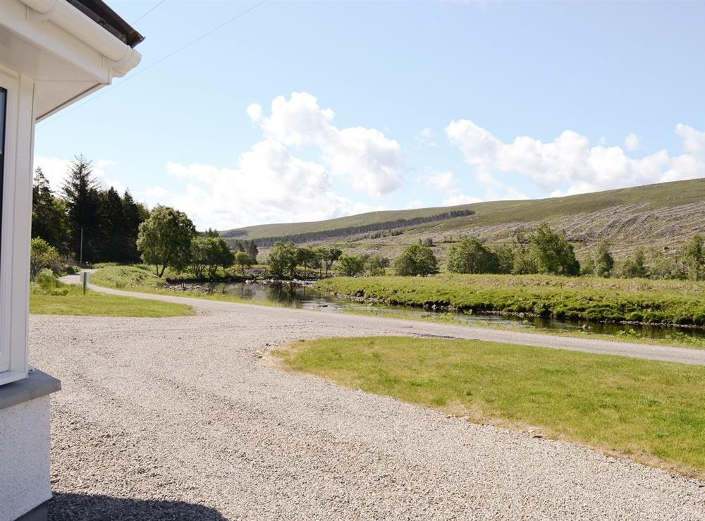 View at March Cottage in Glen Cassley, near Lairg, Sutherland