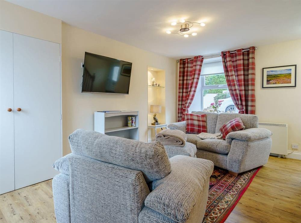 Living area at Margaret House in Chirnside, near Duns, Berwickshire