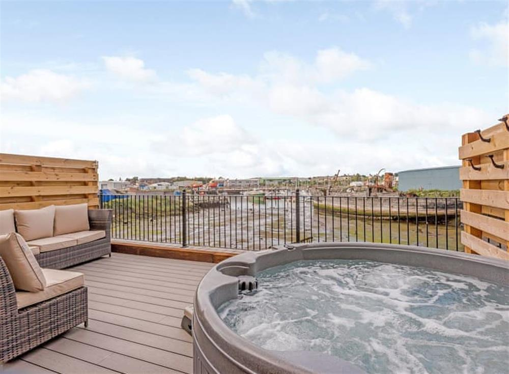 Hot tub at Marina House in Oulton Broad, near Lowestoft, Suffolk