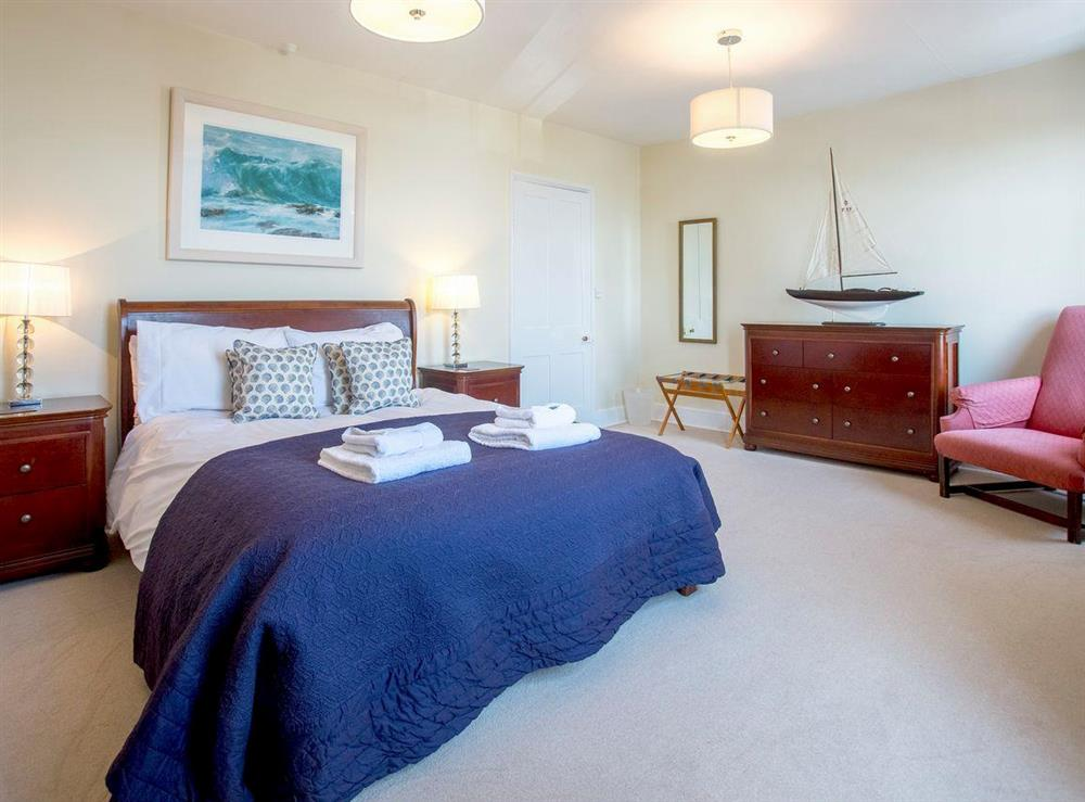 Comfortable double bedroom at Market Cross Place in Aldeburgh, Suffolk