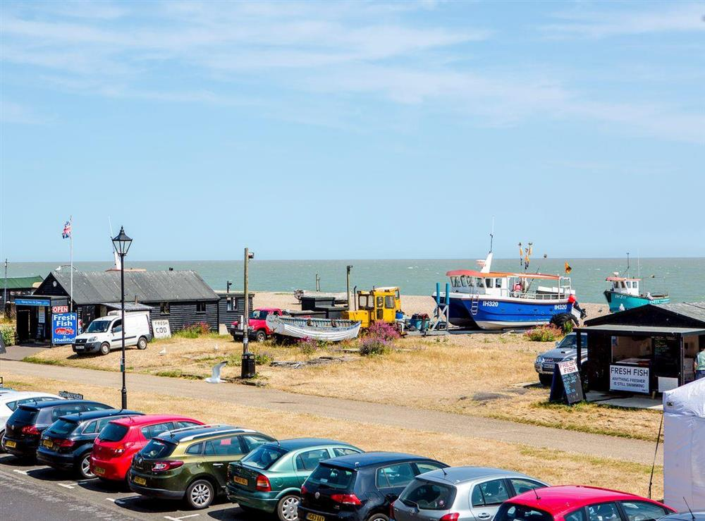 Seaviews from the balcony at Market Cross Place in Aldeburgh, Suffolk