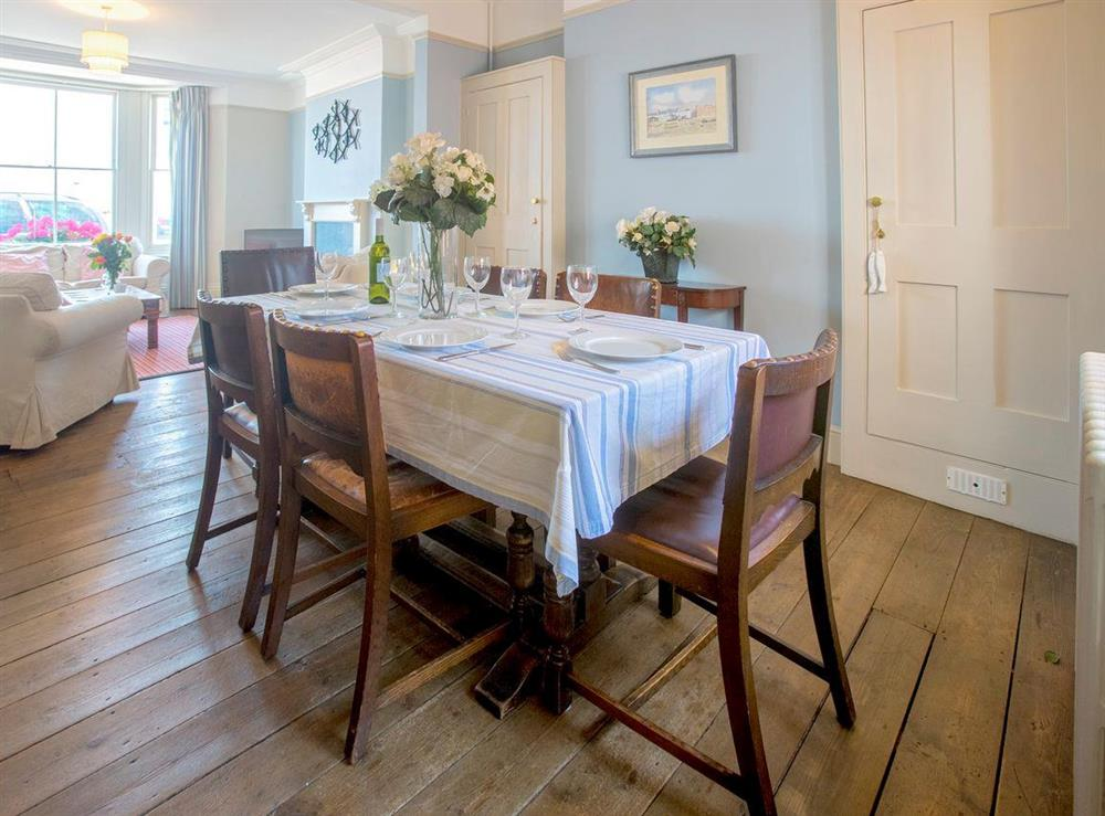 Stylish dining area of living and dining area at Market Cross Place in Aldeburgh, Suffolk