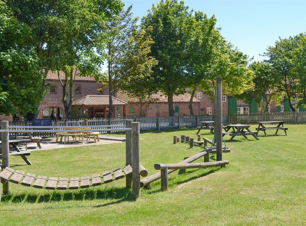 Children's outdoor recreation area at Belgian Cottage,