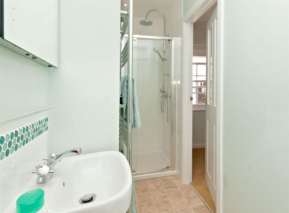 En-suite at Marymede in Dartmouth, Devon