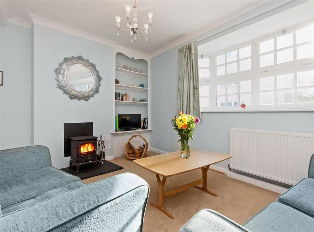 Living room at Marymede in Dartmouth, Devon
