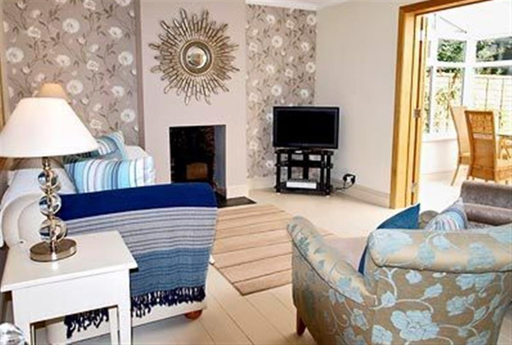 Living room at May Cottage in Bacton, Nr North Walsham, Norfolk., Great Britain