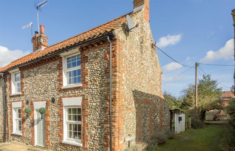 Outside May Cottage at May Cottage, South Creake near Fakenham, Norfolk