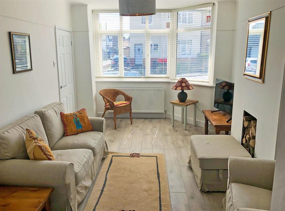 Welcoming living area at May Escape in Heswall, near Liverpool, Merseyside