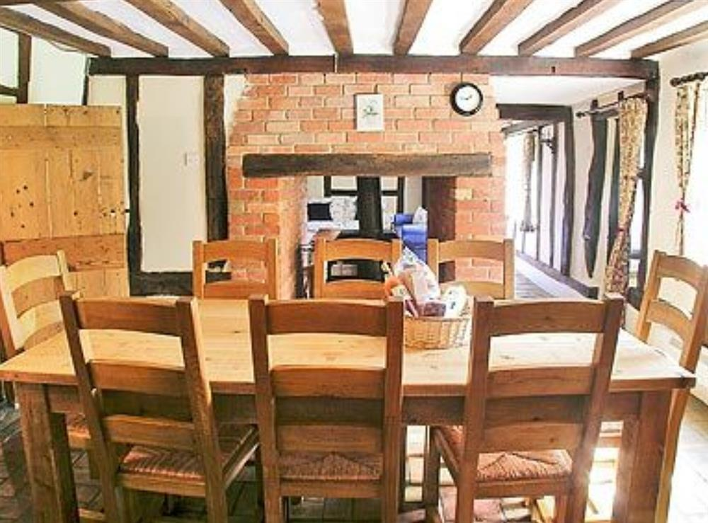 Dining Area at Meadow Cottage in Linstead Parva, near Southwold, Suffolk