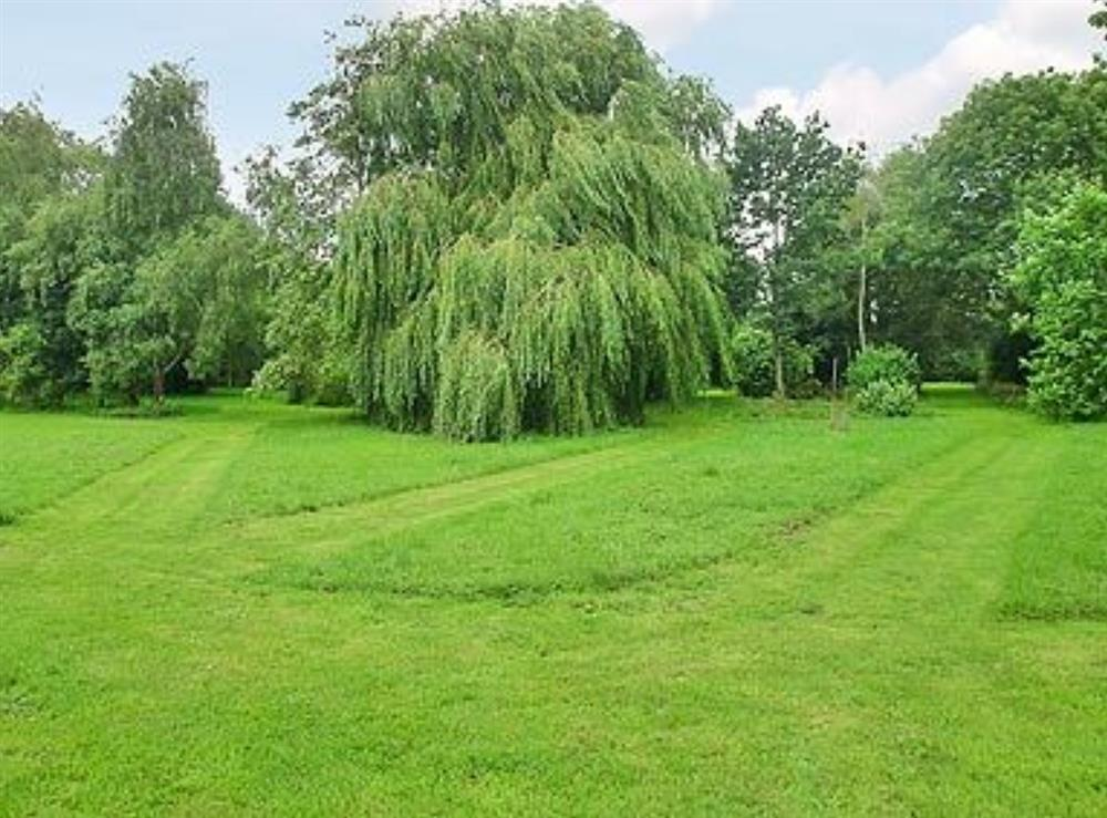 Garden and grounds at Meadow Cottage in Linstead Parva, near Southwold, Suffolk